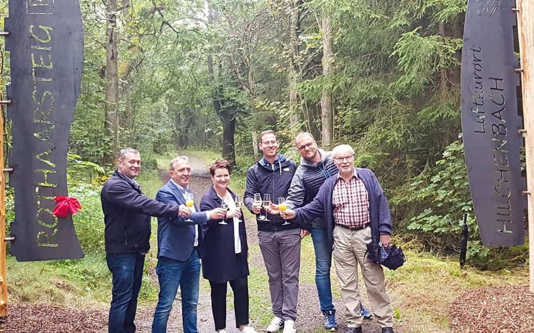 Einweihung des Wanderportals am Rothaarsteig in Hilchenbach-Lützel